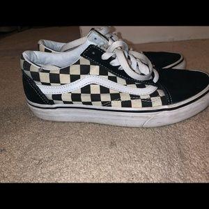 Checkerboard old Skool vans